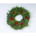 Festive Boxwood Wreath