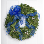 Blue & Silver Holiday Wreath
