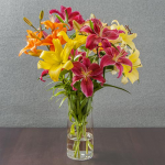 Orange, Yellow & Pink Lilies