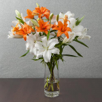 Orange & White Lilies