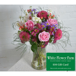 Breezy Day Bouquet with Vase Plus $50 Gift Card - Standard Shipping Included