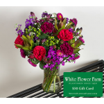 Encore Bouquet with Vase and $50 Gift Card - Standard Shipping Included