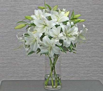 Crystal Blanca Lily Bouquet
