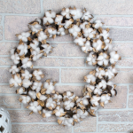 Cotton Seedpod Wreath