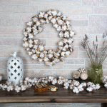 Cotton Seedpod Wreath & Garland