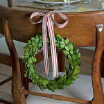 Preserved Boxwood Chair Wreaths, set of 2
