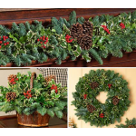 Holly & Greens Decorations