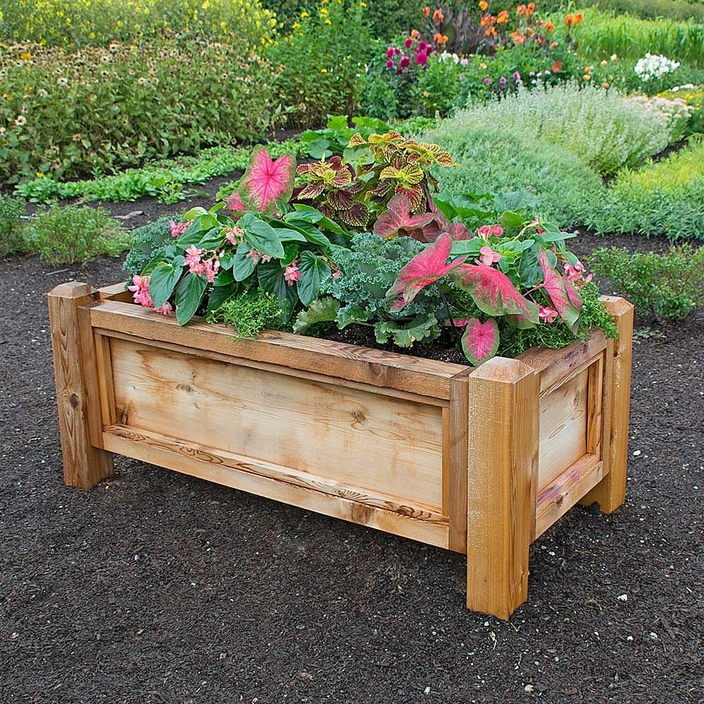 French Raised Bed 48 Long X 24 Wide White Flower Farm