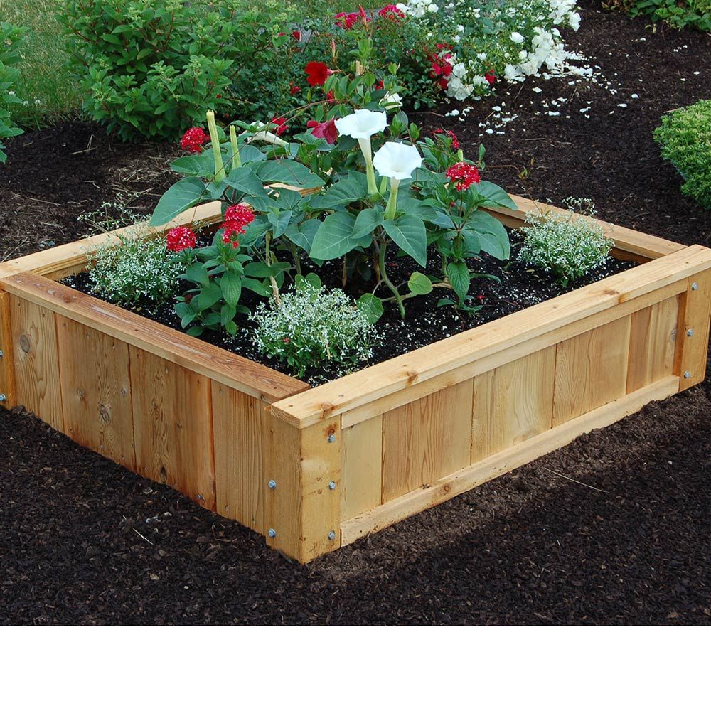 French Raised Bed 48 Long X 40 Wide White Flower Farm