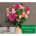 Seaside Cottage Bouquet with Vase Plus $50 Gift Card - Standard Shipping Included