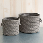 Gray Rope Basket