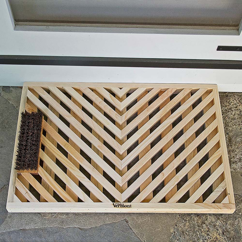 Handcrafted Pine Wood Doormat