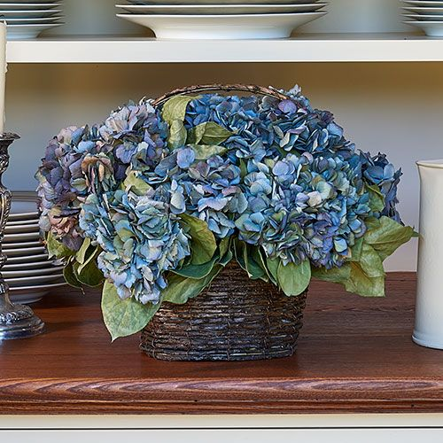 Monterey hydrangea wreath or centerpiece white flower farm