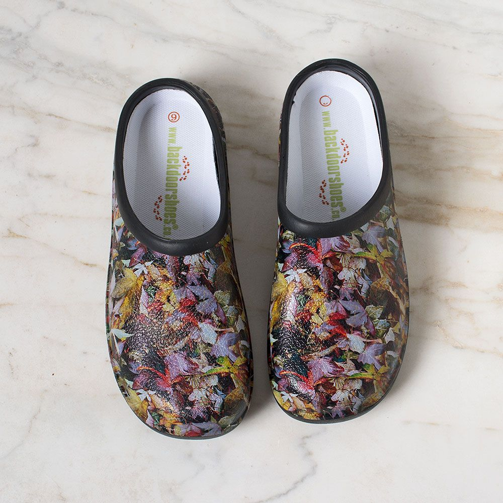 Rough & Ready Autumn Leaves Clogs - Standard Shipping Included