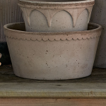 Gray Cottage Dish Planter and Saucer, 8½