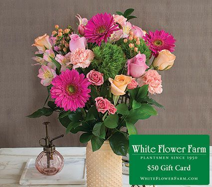 Add a 50 gift card to your bouquet for just 25 white flower farm add a 50 gift card to your bouquet for just 25 negle Choice Image
