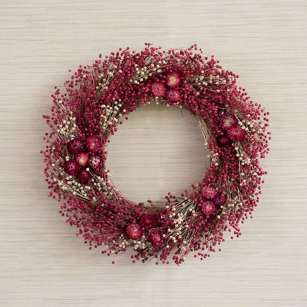 Raspberry Parfait Wreath