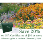 Discounted Gift Certificates Available Now