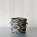 Blue & Tan Rope Basket, small