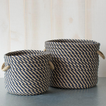 Blue & Tan Rope Baskets