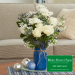 Touch of Grace Bouquet with Vase Plus $50 Gift Card - Standard Shipping Included