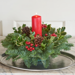 Holly & Greens Centerpiece