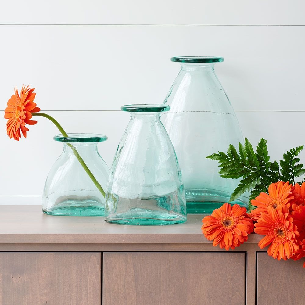 Decorative Recycled Glass Vases