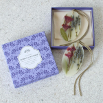 Lavender Botanical Wax Sachets, set of 2