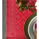 Traditional Red Table Runner