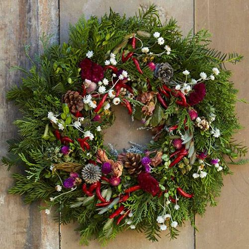 Pretty Peppers Wreath