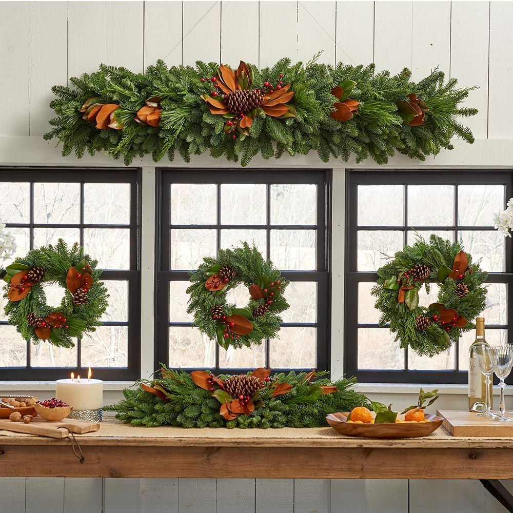 Magnolia holiday greenery collection white flower farm magnolia holiday greenery decorations mightylinksfo