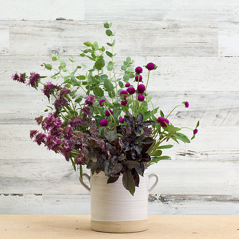 Aromatic Herbs & Blooming Companions Cutting Garden