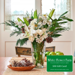 Starlight Bouquet with Vase Plus $50 Gift Card - Standard Shipping Included