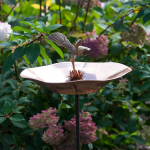 Radiant Wings Birdbath