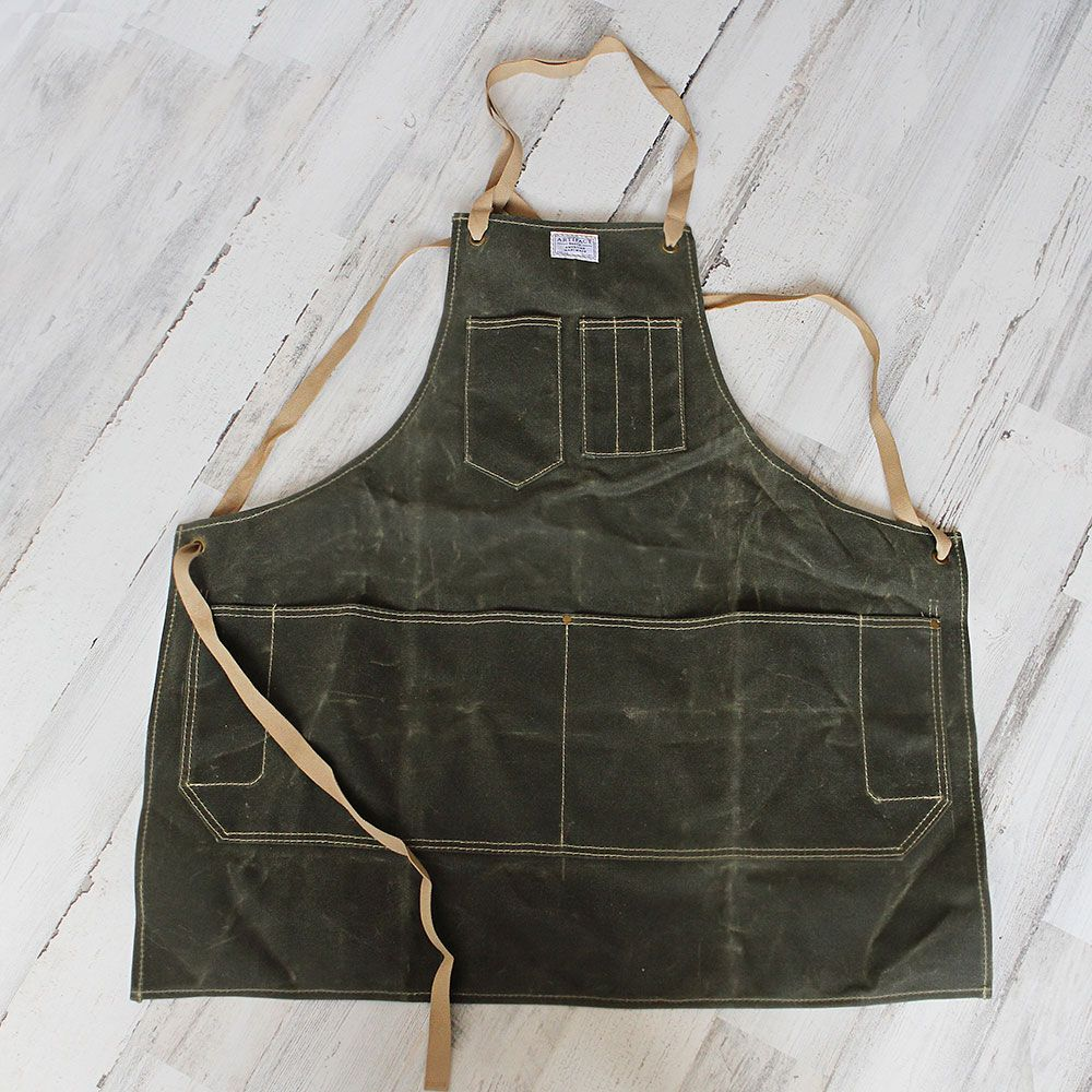 Water-Resistant Waxed Canvas Apron