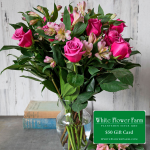 Heart Full of Love Bouquet with Vase Plus $50 Gift Card - Standard Shipping Included