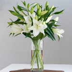 Fragrant White Lily Bouquet