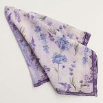 Lavender Print Garden Bandana - Standard Shipping Included