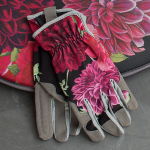 Dahlia & Peony Blooms Garden Gloves - Standard Shipping Included