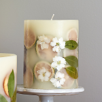 Decorative Lavender-Scented Candle