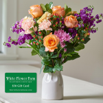 Sunset Sonata Bouquet with Vase Plus $50 Gift Card - Standard Shipping Included
