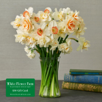 Heirloom Daffodil Bouquet with Vase Plus $50 Gift Card - Standard Shipping Included