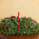 Boughs & Berries Centerpiece with Candle