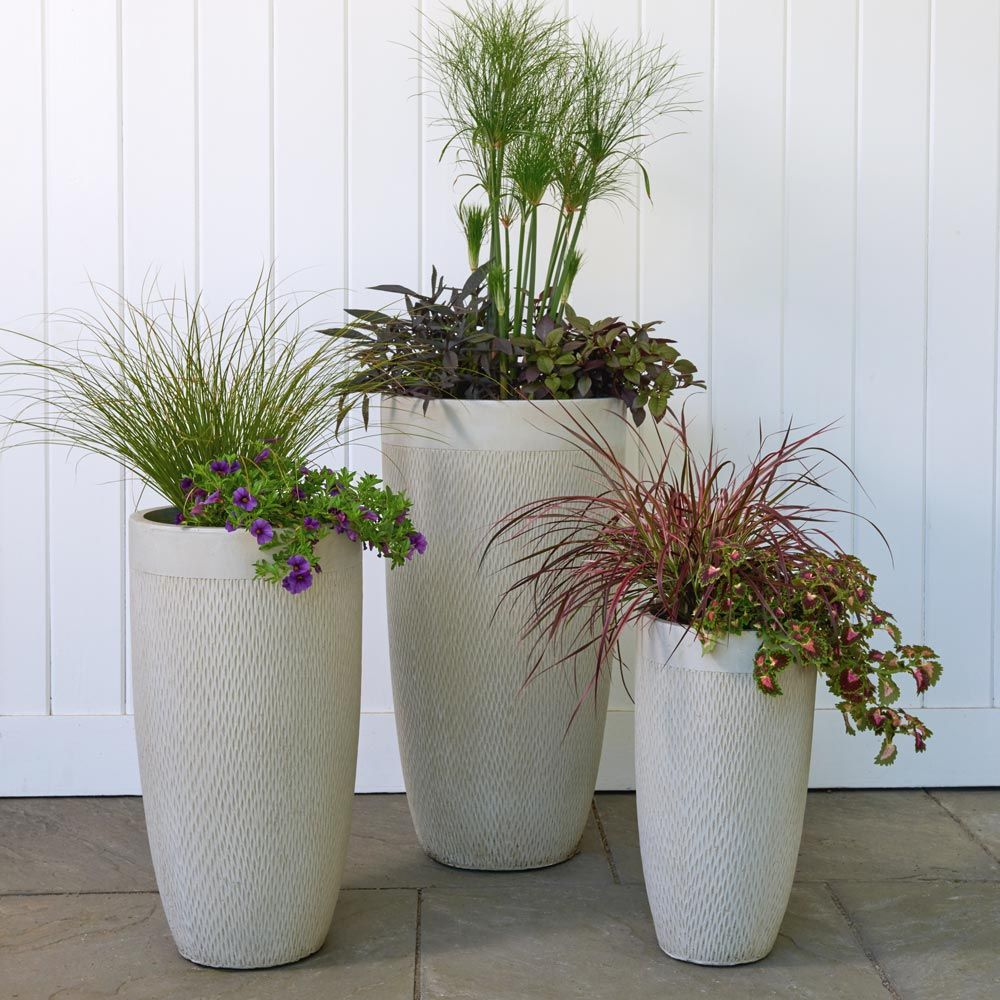 Kent Tall Planter, taupe