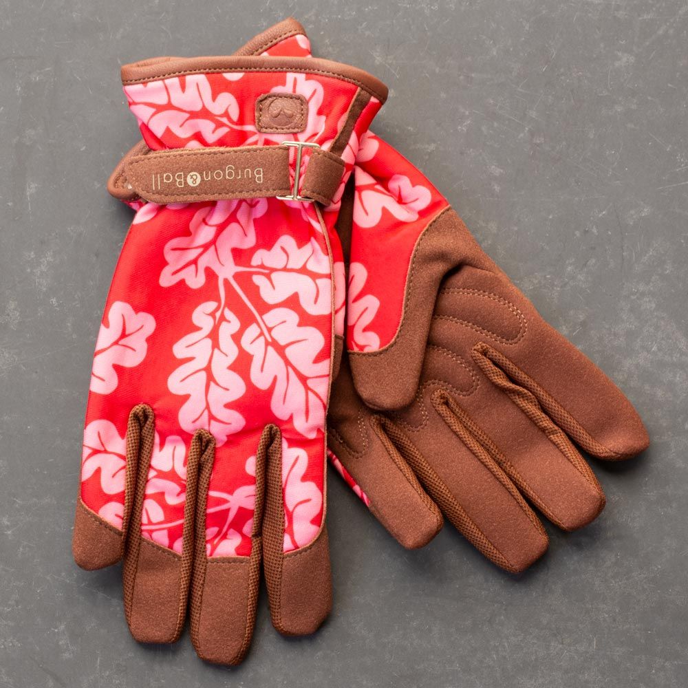 Women's Deluxe Garden Gloves, Red Oakleaf - Standard Shipping Included