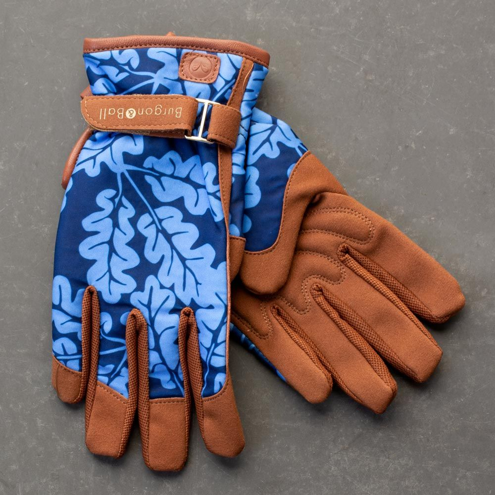 Women's Deluxe Garden Gloves, Blue Oakleaf - Standard Shipping Included