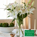 Fragrant White Lily Bouquet with Vase Plus $50 Gift Card - Standard Shipping Included
