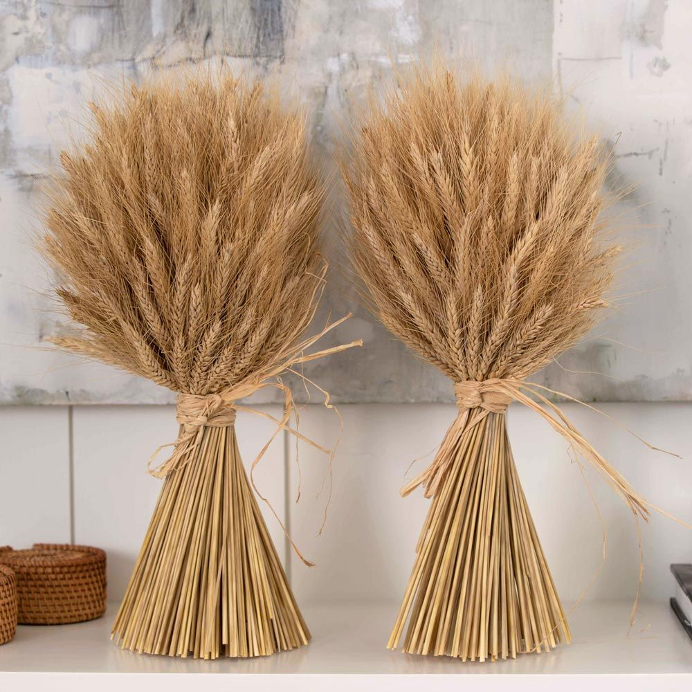 Harvest Gold Wheat Bundles, set of two