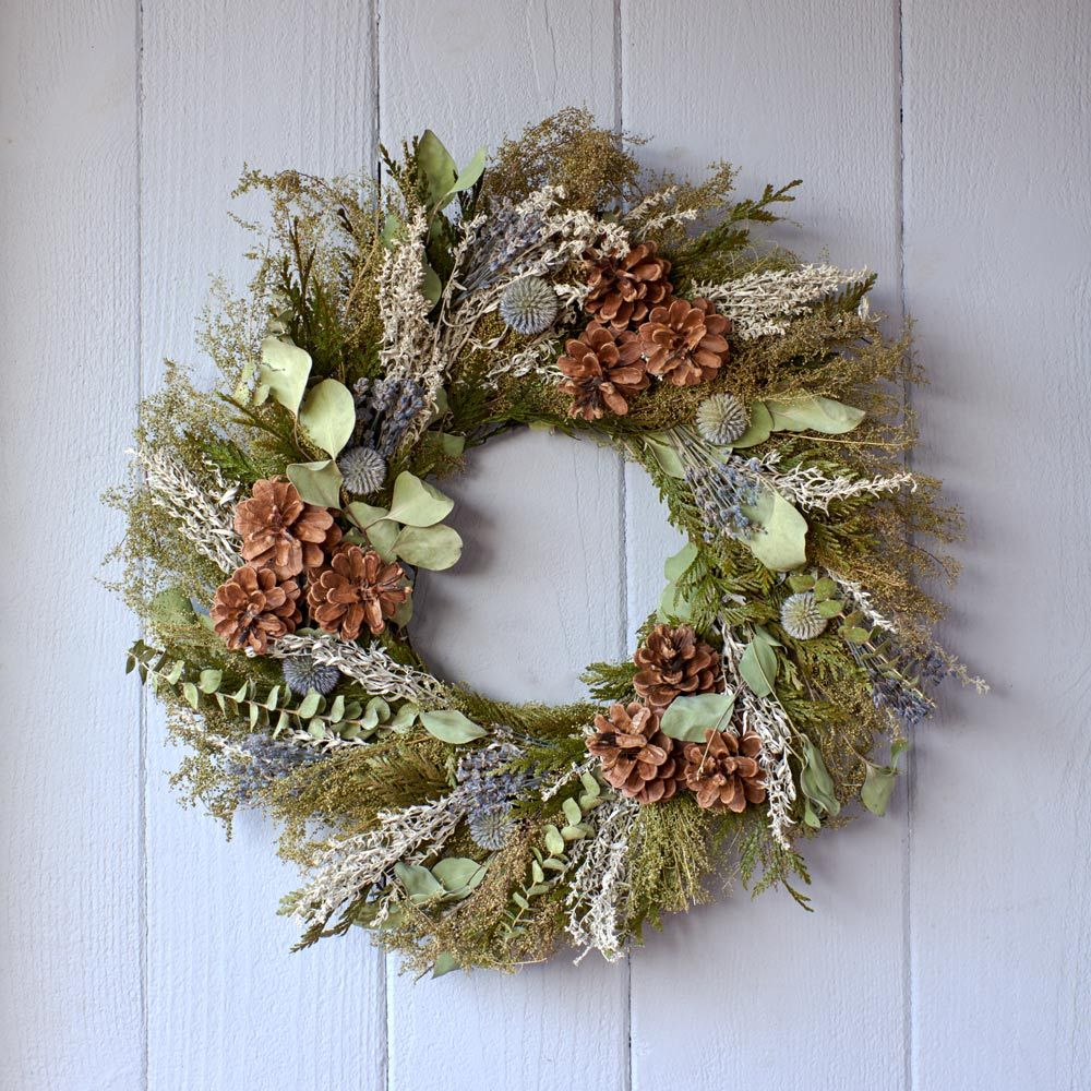 Rustic Charm Holiday Wreath