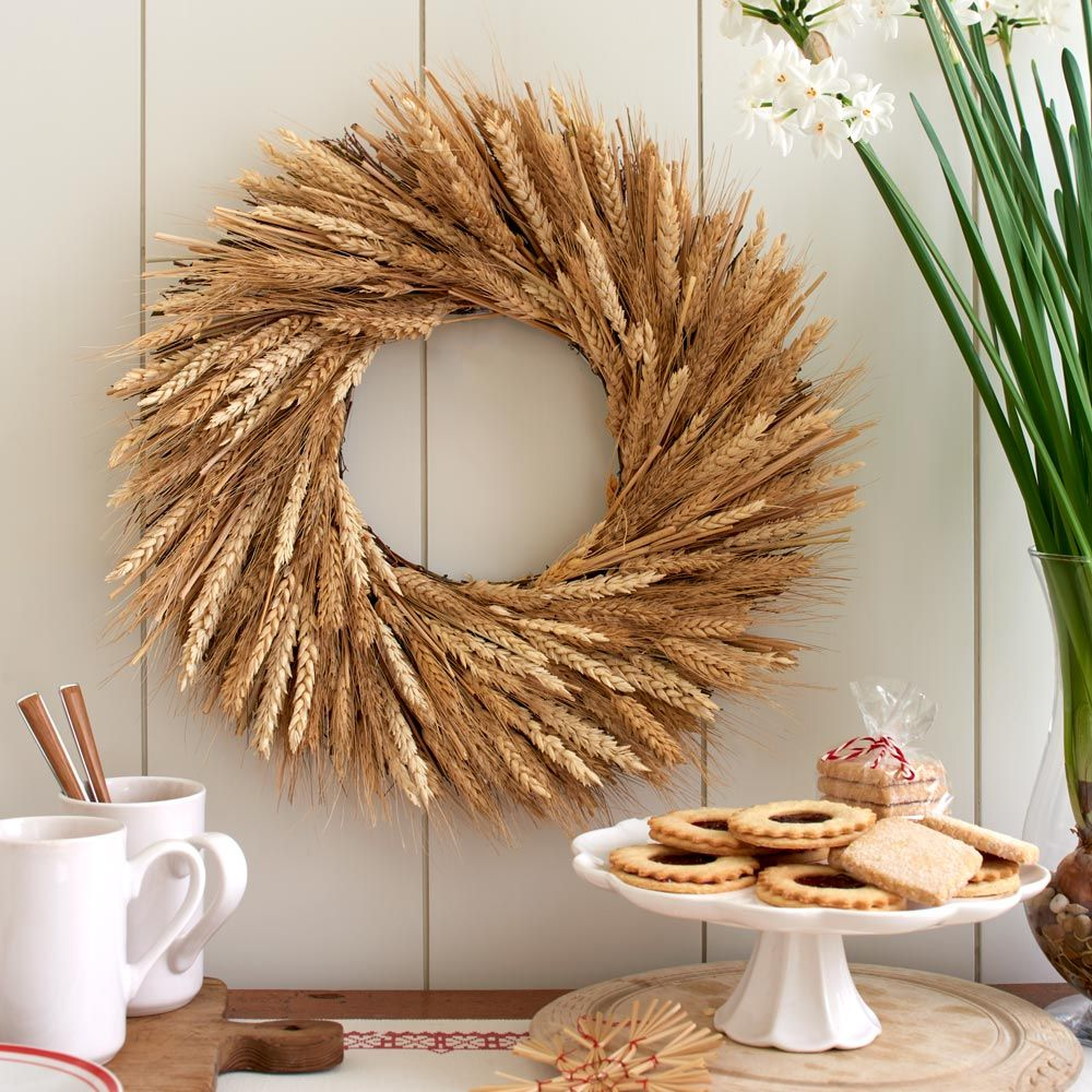 Timeless Wheat Wreath